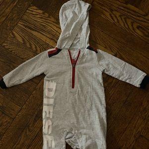 Diesel hooded onesie